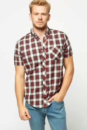 Checked Wine Shirt