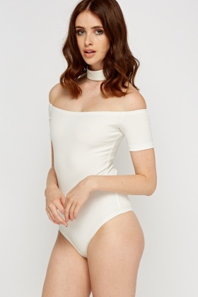 Choker Off Shoulder Bodysuit