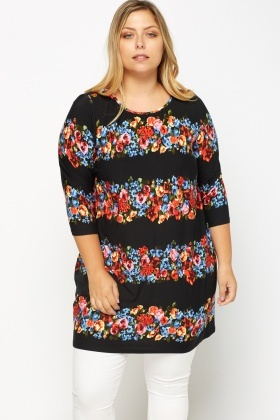 Floral Print Tunic Top