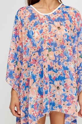 Floral Sheer Cover Up