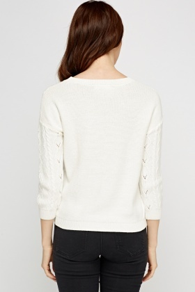 Ivory Cable Knit Jumper