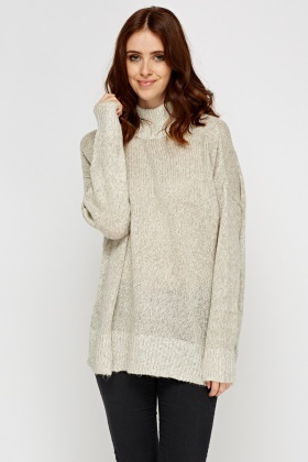 Knitted High Neck Jumper
