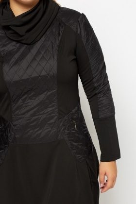 Quilted Contrast Dress