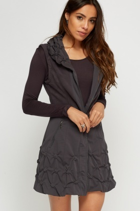 Sleeveless Jacket And Dress Set