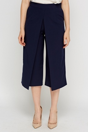 Wrap Overlay Navy Culottes