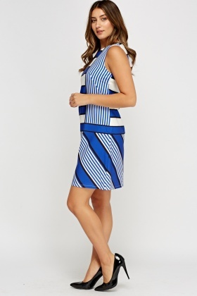 Multi Stripe Shift Dress