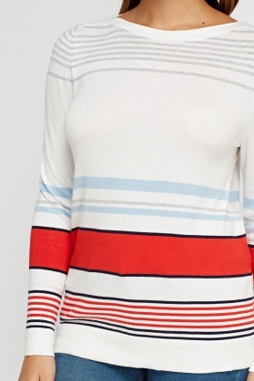 Multi Striped Knit Pullover