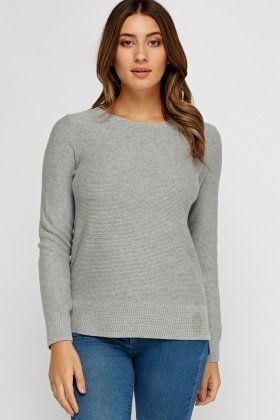 Round Neck Knitted Jumper