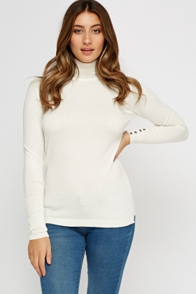 Thin Knit Turtle Neck Top