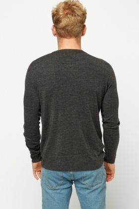 V-Neck Knitted Sweater