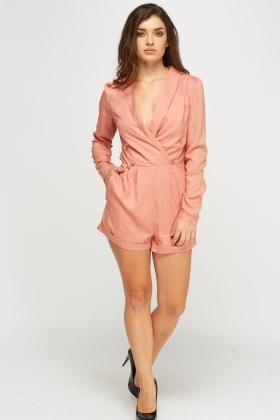 Double Breasted Wrap Playsuit