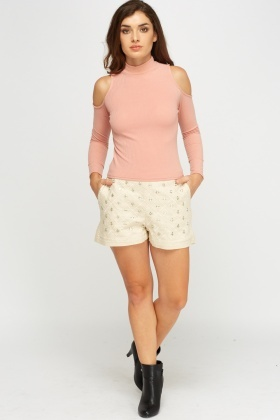 Embellished Fitted Short