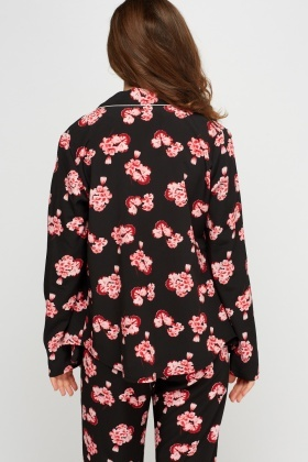 Floral Printed Button Up Top
