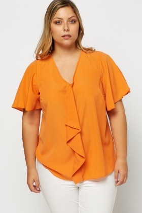 Frilled Panel Top