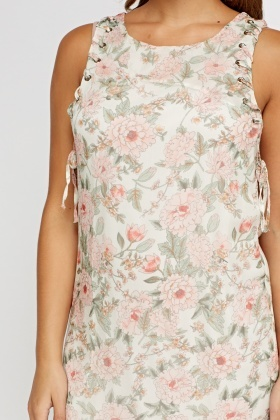 Rose Floral Printed Dress