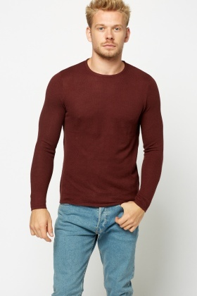 Textured Mens Sweater