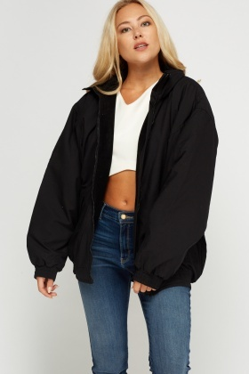 Batwing Sleeve Puffy Oversize Jacket