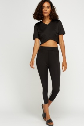 Colour Block Crop Leggings
