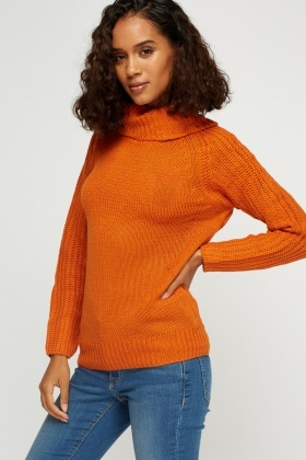 Cowl Neck Knit Jumper