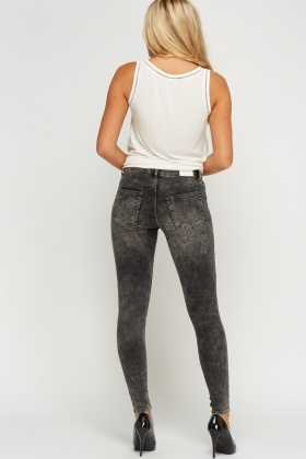 Washed Charcoal Jeggings