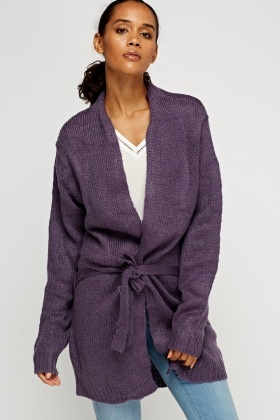 Knitted Tie Up Cardigan