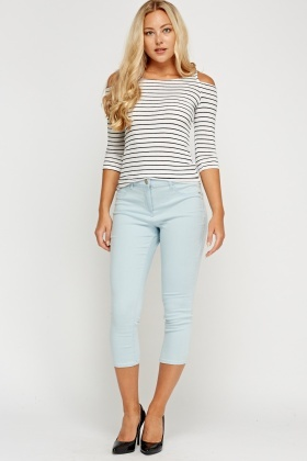 Skinny Fit Cropped Casual Jeans