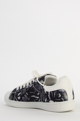 Butterfly Printed Low Top Trainers