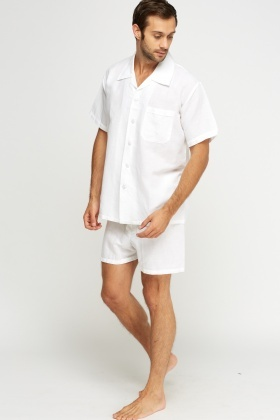 Cotton Shirt And Shorts Pyjama Set