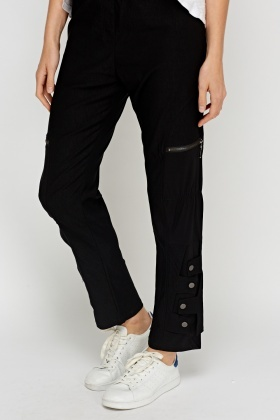 Detailed Leg Casual Trousers