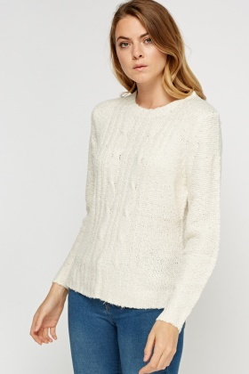 Knitted Plait Casual Jumper