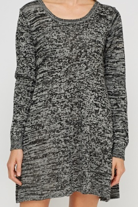 Speckled Knitted Swing Jumper Dress