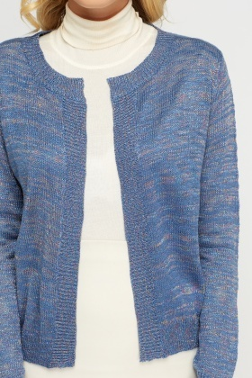 Metallic Insert Speckled Cardigan