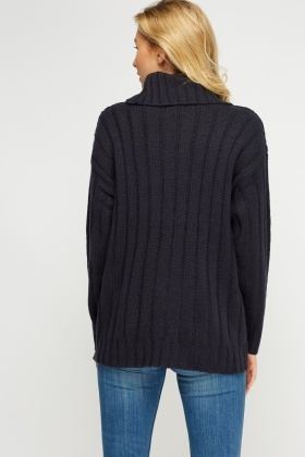 Mix Knit High Neck Jumper