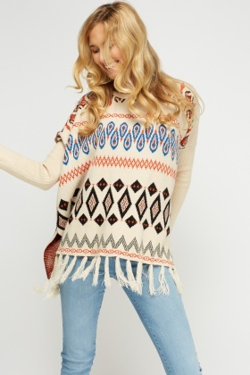 Geo Print Box Jumper