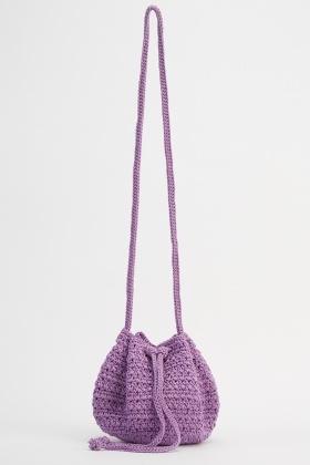 Crochet Small Pouch Shoulder Bag Just 5