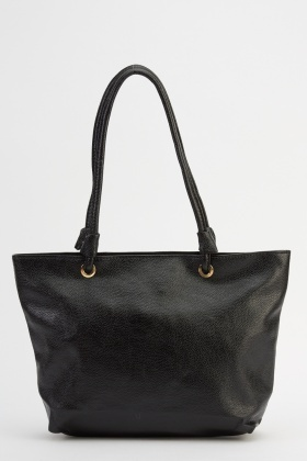 Faux Leather Casual Handbag