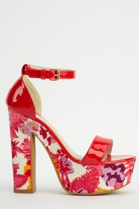 Floral Printed PVC Sandals