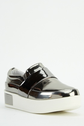 Metallic Slip On Shoes