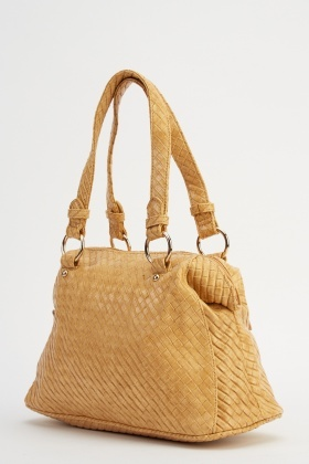 Textured Small Faux Leather Handbag