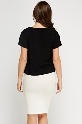 Diamante Neck T-Shirt