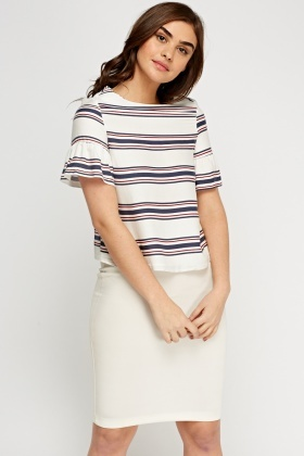 Petite Flared Sleeve Top