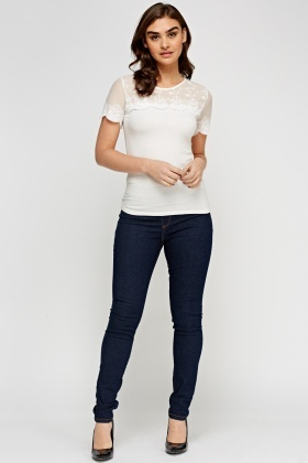 Straight Leg Denim Jeggings