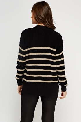 Stripe Knitted Cardigan