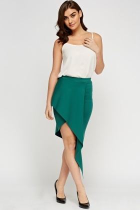 Wrapped Asymmetric Skirt
