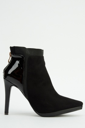 Contrast Court Ankle Boots