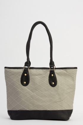 Quilted Faux Leather Handbag