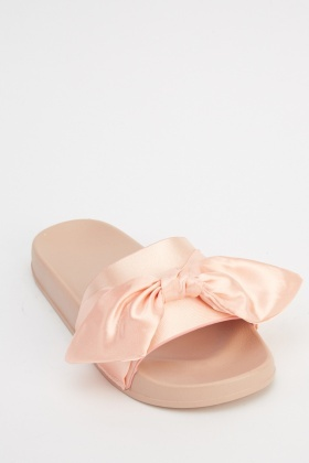 Sateen Bow Sliders