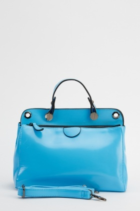 Small Blue Casual Handbag