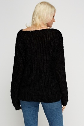 Embroidered Star Knitted Jumper