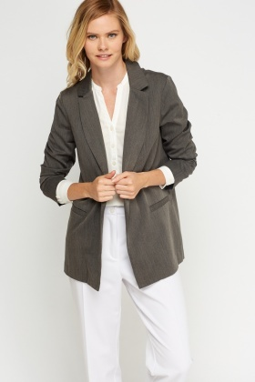 Long Line Grey Blazer